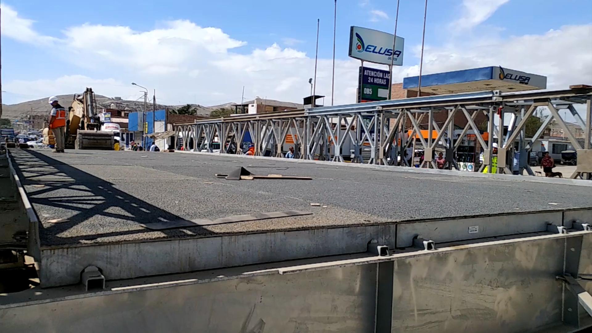 Instalan puente bailey sobre el río Casma