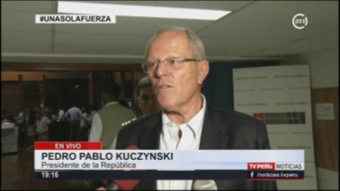Presidente: Hay mucha solidaridad de peruanos y países de la región