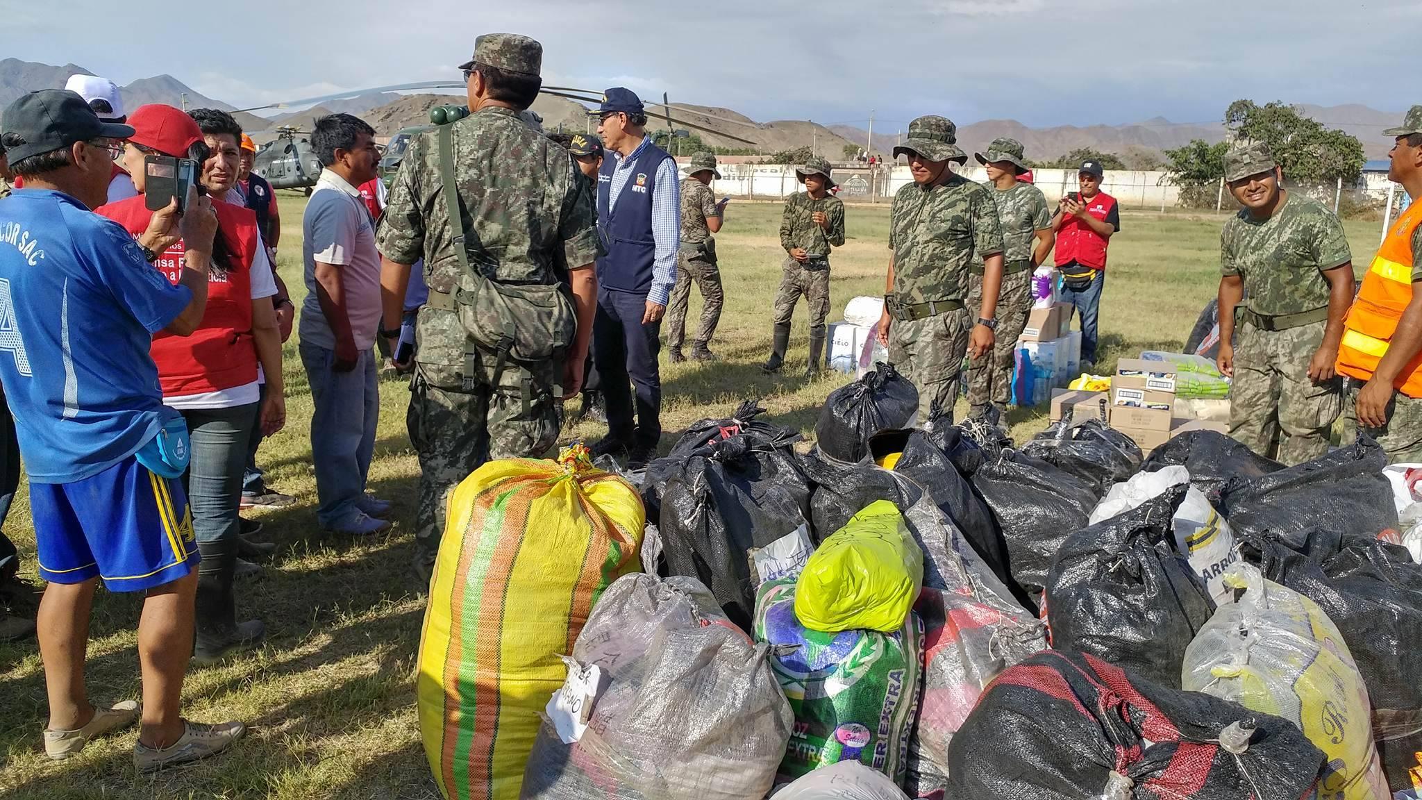 Alcalde de Huarmey agradece ayuda humanitaria