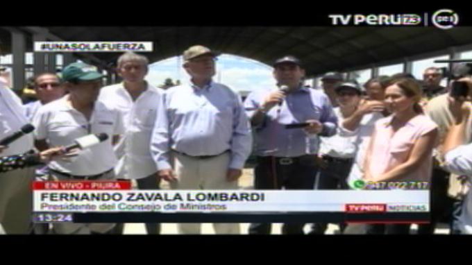 Seguridad en Piura será reforzada con apoyo de FF. AA., anuncia Zavala