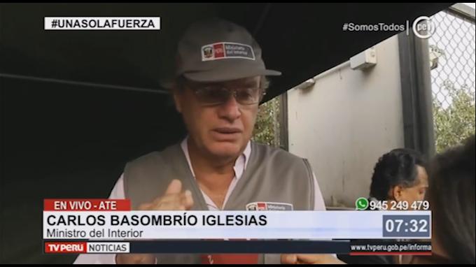 Basombrio: hemos cuadruplicado la incautación de droga en comparación al año pasado