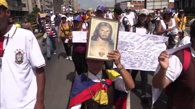 Religiosos piden por la paz en Venezuela