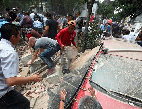 México: terribles derrumbes causados por el terremoto