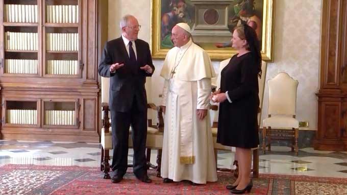 Papa Francisco se reunió con presidente Kuczynski en el Vaticano