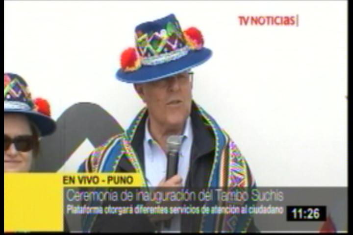Presidente Kuczynski inaugura Tambo Suchis en Puno