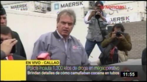 Callao: en megaoperativo incautan 1,300 kilos de droga camuflada en tubos