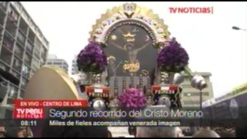 Señor de los Milagros inicia su segundo recorrido procesional