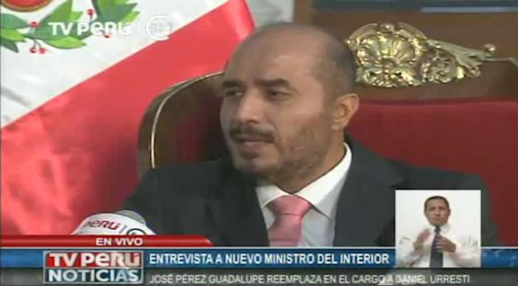 Declaraciones de nuevo ministro del interior jos p rez for Declaraciones del ministro del interior
