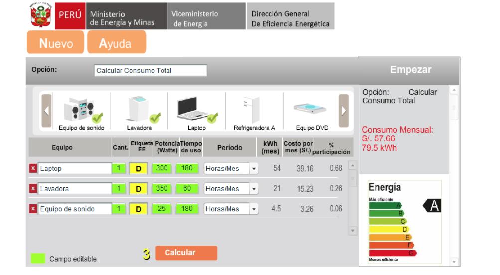Lanzan aplicativo elec quipu para estimar consumo en for Cocina electrica consumo