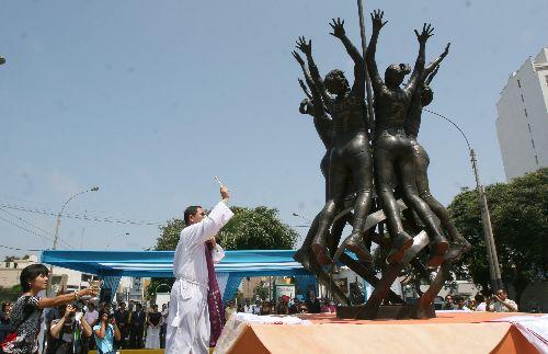 En Magdalena existe un monumento a la gesta de las peruanas